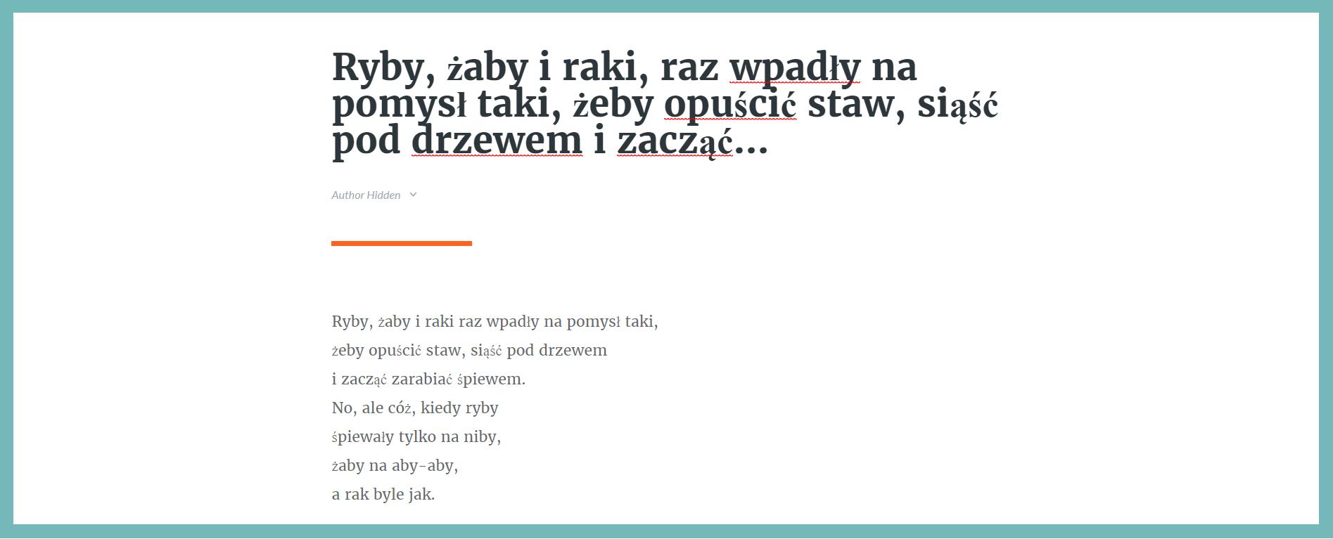 rise polskie znaki